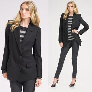 • Theory • Lyzbeth Tailor Two Button Blazer Black